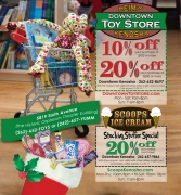 1221 advertising layout - Heim's Downtown Toystore and Scoops
