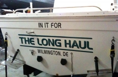 1221 Vinyl Boat Graphics - Long Haul